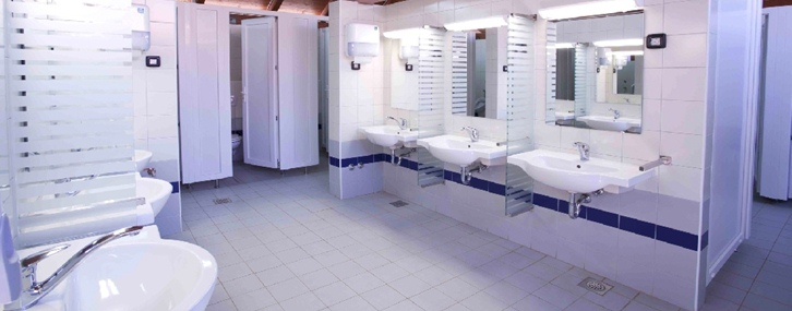 Modern sanitary facilities